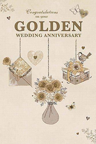 Golden (50th) Wedding Anniversary Congratulations Greeting Card (Wedding Anniversary Verses For Mum And Dad)