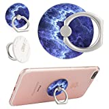 KASOS Phone Ring Holder Blue Marble Universal 360 Degree Rotation Finger Ring Stand Grip Compatible with Smartphones and Tablets
