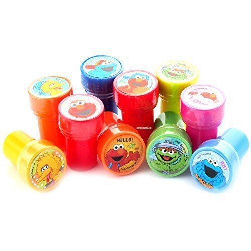 Elmo and Friends Stampers Party Favors (10 Stampers) -