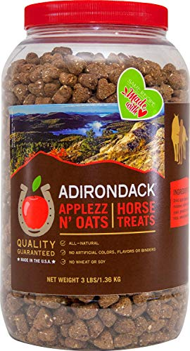 RJ Matthews All Natural Horse Treats, Applezz N Oats, 3 Pound - Treats Oats Horse