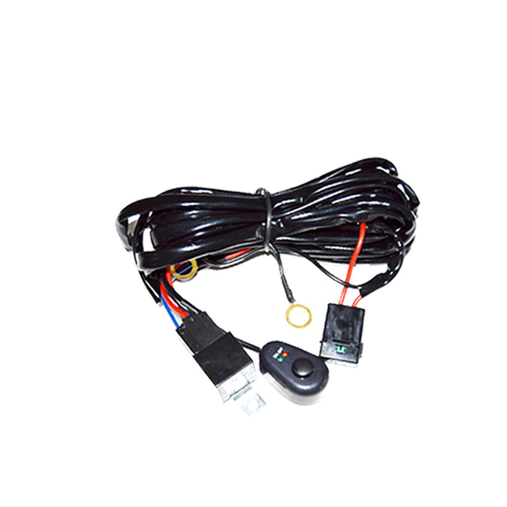 Kc 6308 Wiring Harness Library R 6315 With 40 Amp Relay And Led Rocker Switch Amazoncom Heavy Duty For Light Bar Automotive