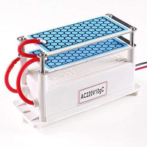 wdpwsl Generador de ozono portátil, 10 g/h de cerámica Generador de ozono Doble Placa integrada Ozonizador ...