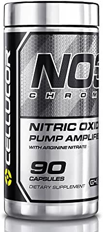 NO3 Chrome Nitric Oxide Supplement for Men & Women | 90 Capsules | nitric Oxide Booster & Pump Amplifier With L-arginine Nitrate