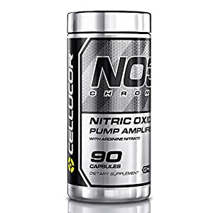 Cellucor NO3 Chrome Nitric Oxide Supplements with Arginine Nitrate Boosters, 90 Capsules, G4 Series