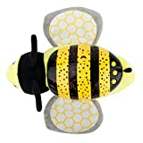 Tracfy LED Plush Stuffed Animal Toys Projector Baby Sleep Night Light Soothers Music Sky Star Lamp Toys For Baby Kids, Bee