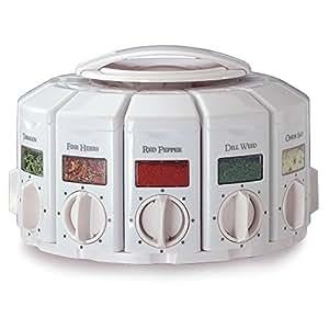 KitchenArt 25000 Select-A-Spice Auto-Measure Carousel Professional Series, White