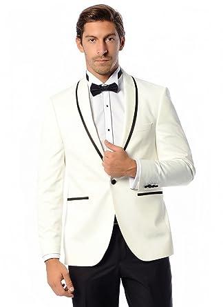 Men\'s One Button 2 Piece Wedding Dress Suits Shawl Lapel Groom ...