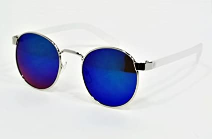 322a90c7ae9 Amazon.com   Clear Frame Blue Lens Classic Retro Aviator Elmhurst ...