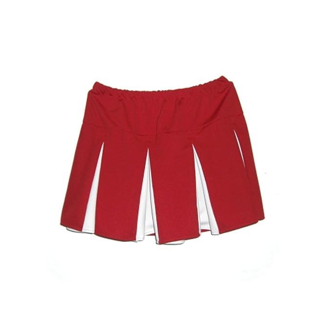 Rojo y Blanco Animadora Plisada Falda IceBox Caja de Hielo Disfraz ...