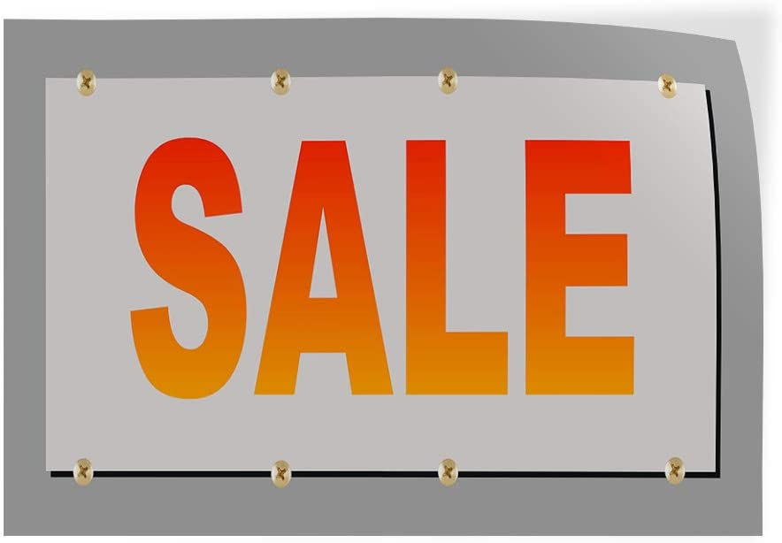 Decal Sticker Multiple Sizes Sale Red Orange Business Sale Outdoor Store Sign Orange Set of 5 27inx18in