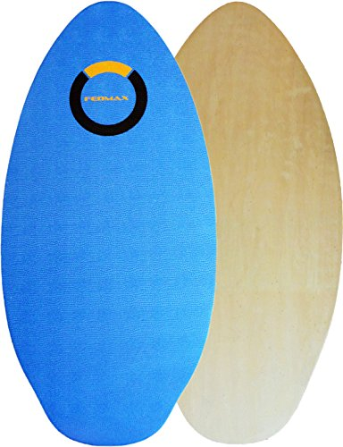 Fedmax Skimboard with IXPE Foam Traction, No Wax Needed | 120lbs. to 220lbs | Choose Size | Wood Skim Board for Kids/Adults. Design 2, 41 In.