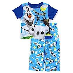 Disney Little Boys' Olaf Pajama Set,2T,Blue/Multi