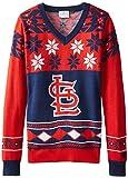 St. Louis Cardinals Womens Big Logo V-Neck Sweater Small