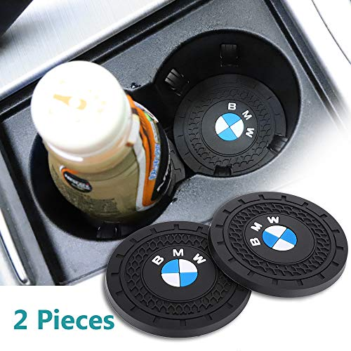 yyyycar 2 Pcs 2.75 inch Car Interior Accessories Anti Slip Cup Holder Mat for BMW All Models (BMW)