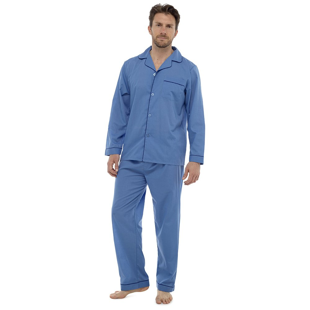 factory top-rated newest wide selection of colours and designs Mens Plain Poly Cotton Pyjamas Set Traditional Classic Cut ...