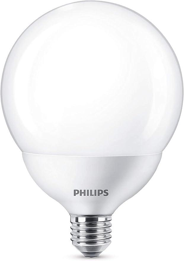 Image ofPhilips Bombilla LED Globo E27, 18W Equivalentes a 120 W en Incandescencia, 2000 lúmenes, Luz Blanca Cálida           [Clase de eficiencia energética A+]