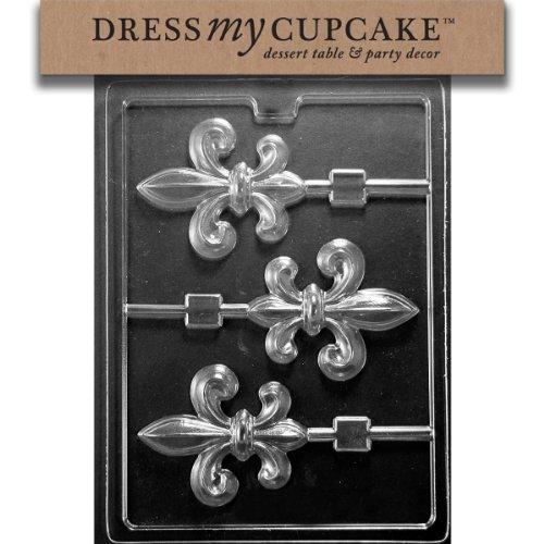 - Dress My Cupcake Chocolate Candy Mold, Fleur-De-Lis Lollipop