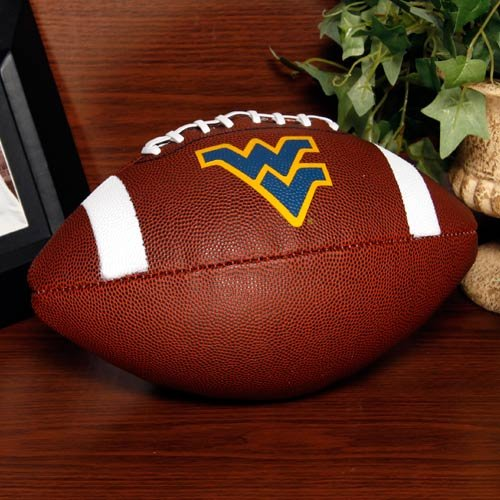 NCAA Game Time Full Size Football , West Virginia Mountaineers, Brown, Full Size