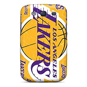 Durable Protector Cases Covers With Los Angeles Lakers Hot Design For Galaxy S3