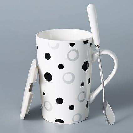 Botella de vidrio doble iggiqy996q- Tazas de cerámica Creativas Simple Couple Cup Taza de Gran