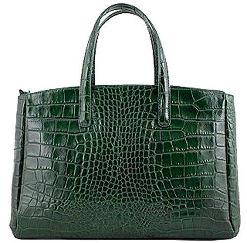 G&G PELLETTERIA - Bolso al hombro de Piel para mujer Verde