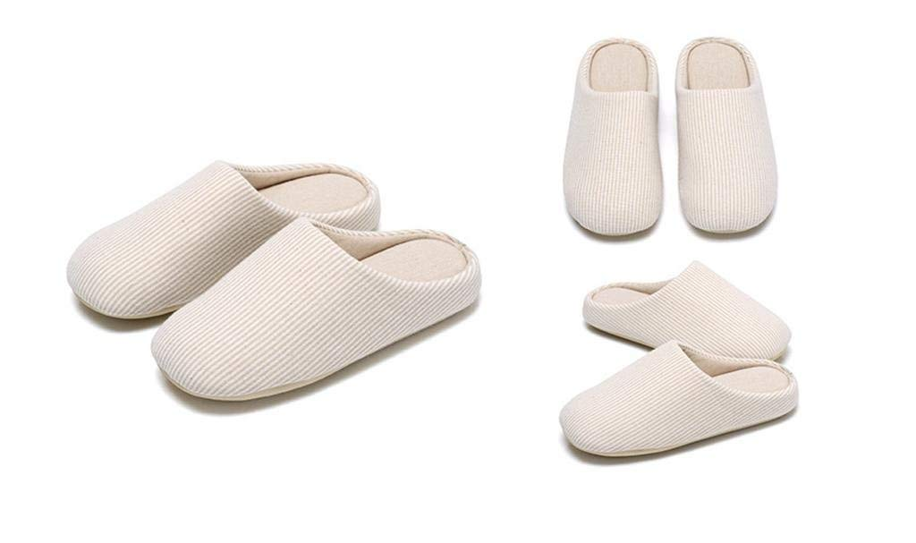 Oudan Fall//Winter Home Flooring Non-Slip Slippers Slippers Color : Beige, Size : 36-37