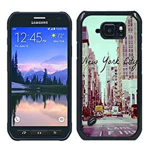 Newest Samsung Galaxy S6 Active Case ,Popular And Beautiful Designed Case With Vintage New York City black Samsung Galaxy S6 Active Screen Cover High Quality Phone Case