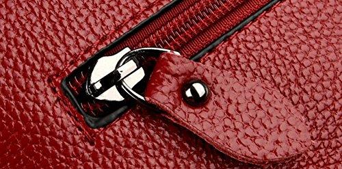à Achats Sacs Odomolor bandoulière Cuir à Femme Pu Sacs Zippers ROFBL180969 Rouge bandoulière w8IIYqC