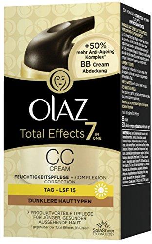 Olaz Total Effects 7-in-1 CC Cream, dunklere Hauttypen, Pumpe, 50 ml