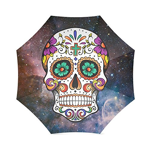 Beautiful Sugar Skull On Nebula Background