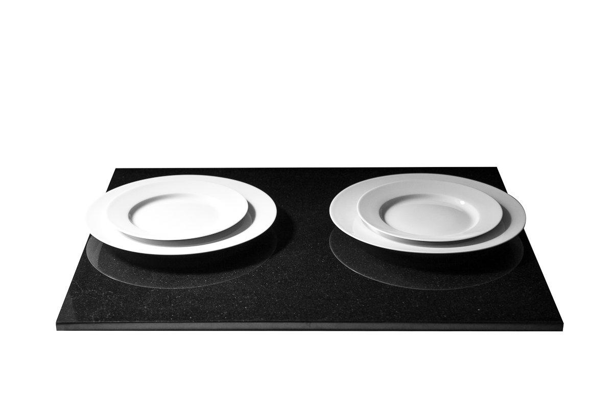 stein kchenplatte arbeitsplatte servierplatte kchenarbeitsplatte aus seltenem schwarzen granit naturstein unikat steinmetzarbeit massiv elegant - Kchen Mit Weien Schrnken Und Arbeitsplatten Aus Granit