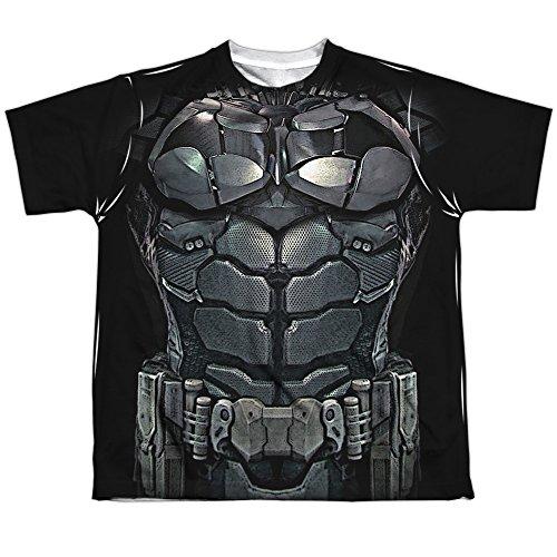 [Sublimation Youth: Batman - Arkham Knight Uniform Costume All Over Print T-Shirt] (Batman Costumes Arkham Knight)
