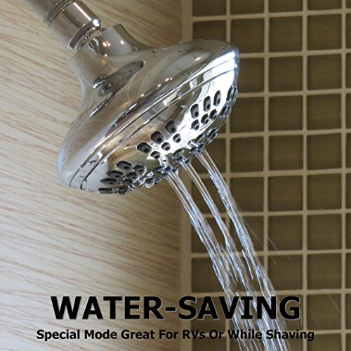 6 Function Adjustable Luxury Shower Head - High Pressure - Import It All