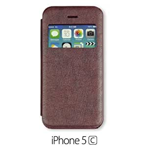 Quality S View Flip For SamSung Galaxy S5 Case Cover - Brown