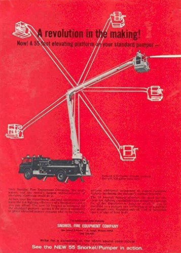 1971 Snorkel Aerial Fire Truck Ad Mueller Fire Hydrant