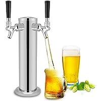 Tireuse à Bières Distributeur Double Buses en Acier Inoxydable pour Maison et Bar