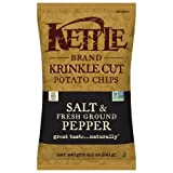 Crispy and Tasty Krinkle Cut Potato Chips, Salt & Fresh Ground Pepper, 8.5 Oz,Made with Natural Ingredients with No Transfat & Preservatives,Pack of 3