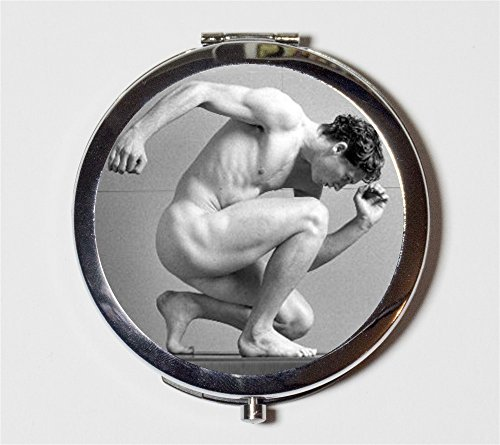 Male Physique Compact Mirror Gay Interest Figure Model Nude Man Pocket Size for Makeup - Mirror Model Male