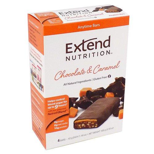 Extend Nutrition Bars, Chocolate & Caramel, 4 pk 1.48 oz ( 3 Pack )
