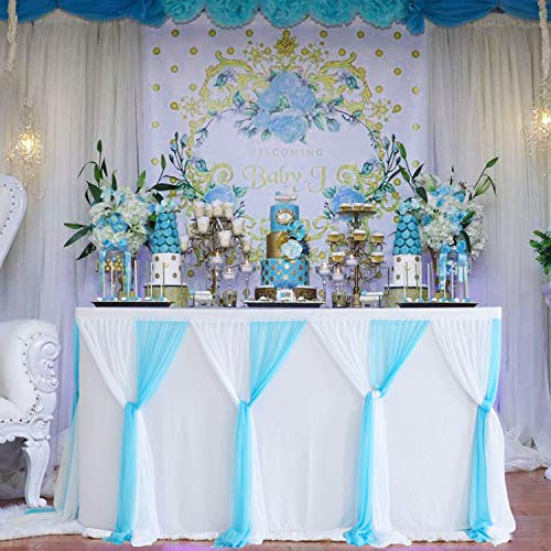 Baby Blue Tulle Table