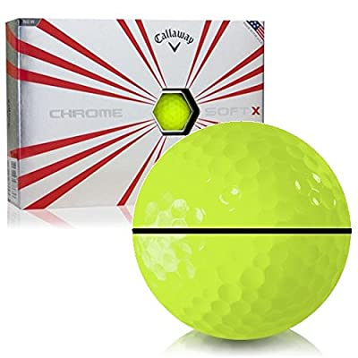 Callaway Golf Prior Generation Chrome Soft X Yellow AlignXL Personalized Golf Balls