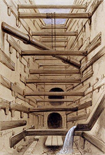 (kunst für alle Art Print/Poster: Fred Shepherd Interior of Fleet Street Sewer 1845