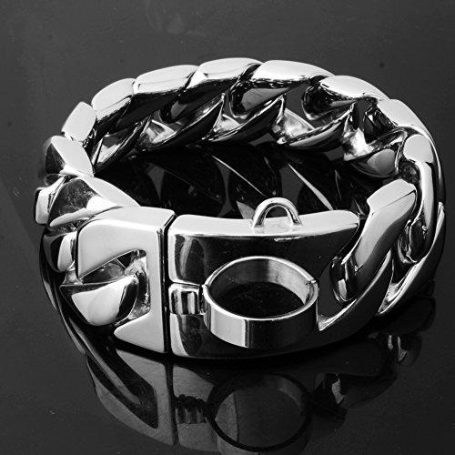 W&W Lifetime Stainless Steel Training Chain Pitbull Pet Dog Choke Collar, 30mm Wide, Bear 680 lbs (28'' Collar) by W&W Lifetime (Image #6)