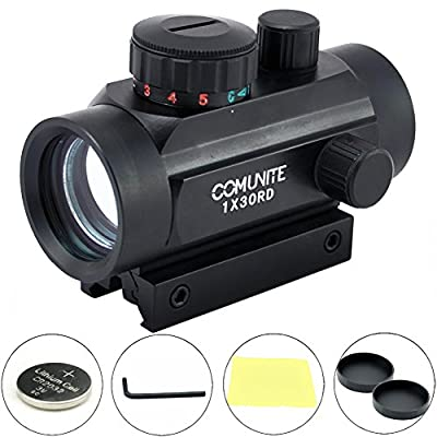 Comunite 1X 30 Red/Green Dot Sight Scope Tactical Holograp with Integral Picatinny Mounting Deck