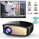Wireless Wifi Projector for iPhone Android Smartphone, WEILIANTE Portable Mini LED Movie Video Projector Support Full HD 1080P With HDMI USB SD VGA AV for Home Cinema TV Laptop, Upgraded