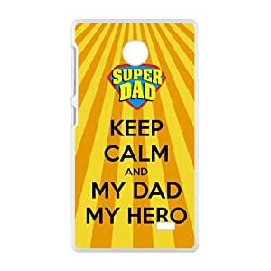 Keep Calm And My Dad My Hero New Style High Quality Comstom Protective case cover For Nokia Lumia X