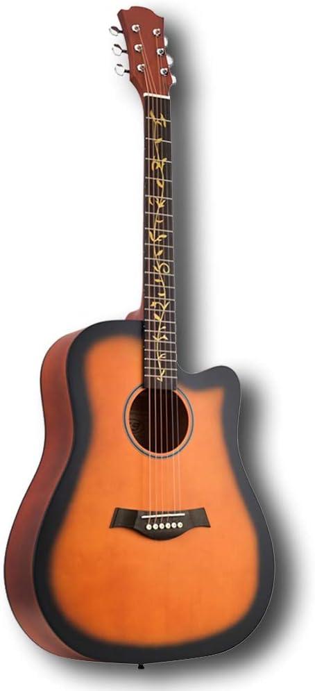 YJFENG Acorazado Guitarra Acústica,Acompañamiento Sonido Fuerte ...