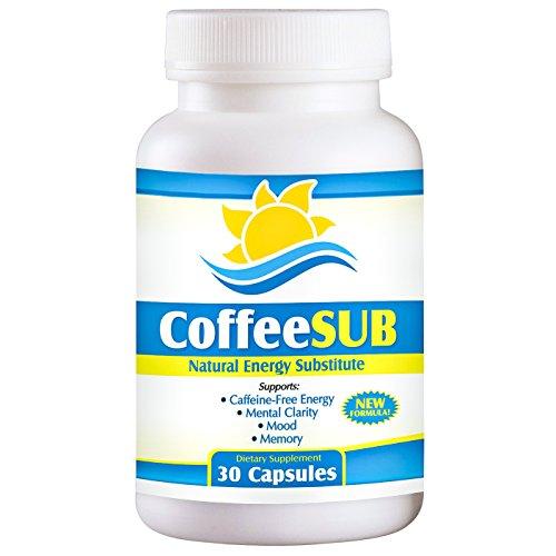 CoffeeSUB: sans caféine énergie, la concentration, l'humeur & Support (Ginkgo Biloba (comme 24% d'extrait), Phosphatidylserine complexe, N-acétyl-L Carnitine HCl, le millepertuis (3% hypéricine), glutamine (comme L-glutamine chlorhydrate), DMAE bitartrate