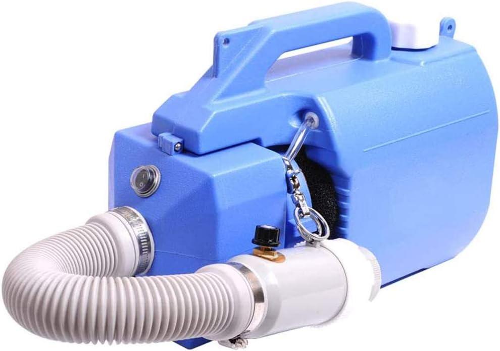 5L portátil ULV eléctrica pulverizador, Medio Ambiente y Agricultura Desinfección del atomizador de la máquina, Niebla Tamaño de la Gota de 5 a 50 micras, Rociar Distancia 6 a 8 m, Azul