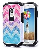 Galaxy S3 Mini Case, Nagebee - Galaxy S3 Mini Design Premium Heavy Duty Defender Dual Layer Protector Hybrid Phone Cover Case for Samsung Galaxy S3 Mini (Hybrid Colorful Wave)